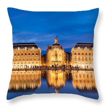 Bordeaux By Night Throw Pillow