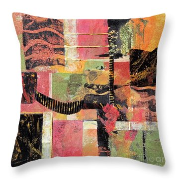 Bordeaux Throw Pillow by Deborah Ronglien