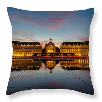 Bordeaux Reflections Throw Pillow