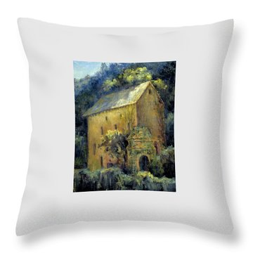 Bordeaux River Mill Throw Pillow by Jill Musser