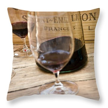 Glassware Throw Pillows