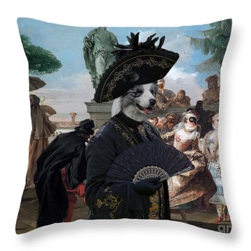 Border Collie Art Canvas Print - The Minuet Throw Pillow