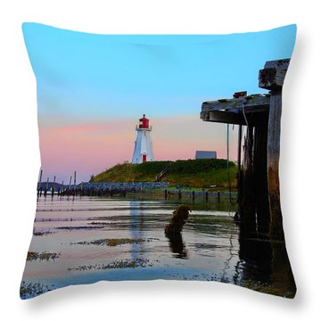 Border Lights Throw Pillow