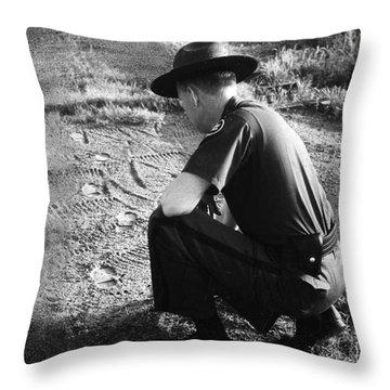 Border Patrol Inspector Throw Pillow by Granger