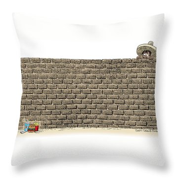 Border Wall Throw Pillow