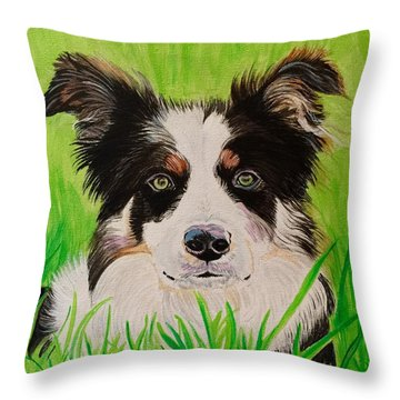 Bordering On Paradise Throw Pillow