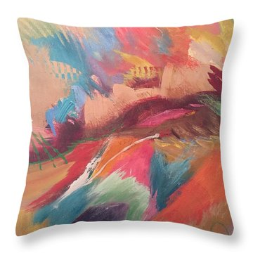 Borderland Throw Pillow