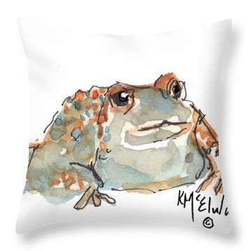Boreal Chorus Frog Throw Pillow by Kathleen McElwaine