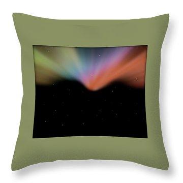 Borealis Throw Pillow by Carol Crisafi