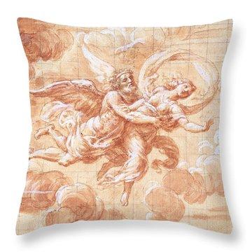 Boreas Abducting Oreithyia  Throw Pillow