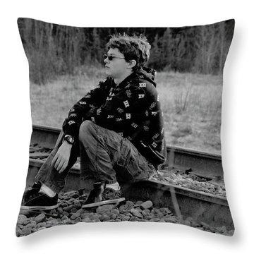 Throw Pillow featuring the photograph Boredom by Tara Lynn