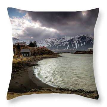 Borganes Light Show Throw Pillow