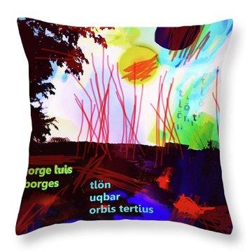 Borges Tlon Poster 2 Throw Pillow
