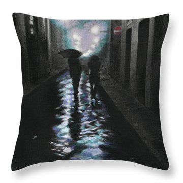 Borgo Degli Albizi Florence Italy Throw Pillow by Kelly Borsheim