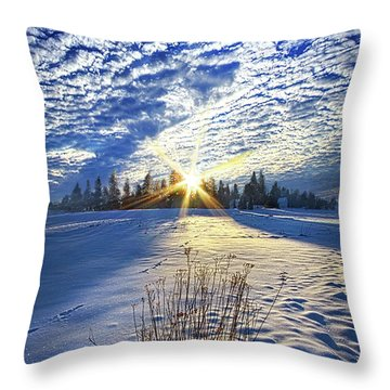 Throw Pillow featuring the photograph Born As We Are by Phil Koch