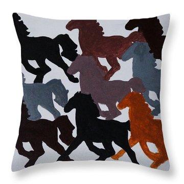 Born Free Throw Pillow by Joseph Frank Baraba