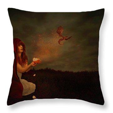 Born Of Magic Throw Pillow