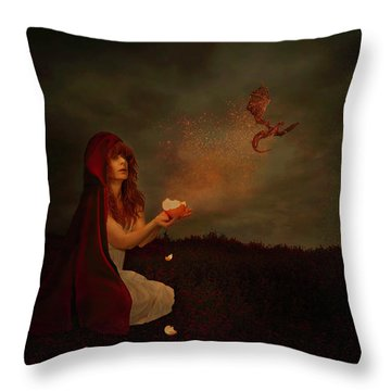 Born Of Magic Throw Pillow