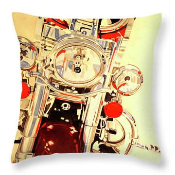 Throw Pillow featuring the painting Born To Be Wild by Cynthia Powell