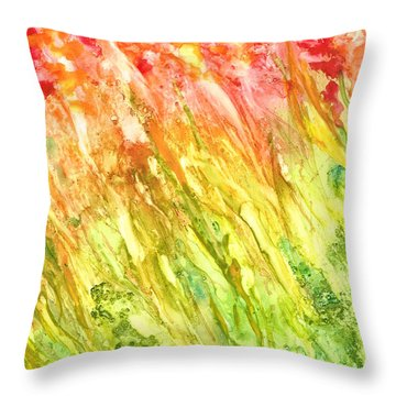 Born To Be Wild Throw Pillow by Rosie Brown