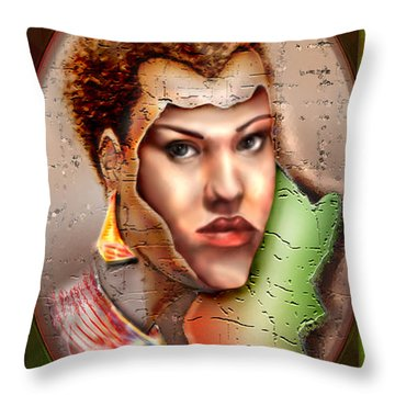 Borne A Nation Throw Pillow