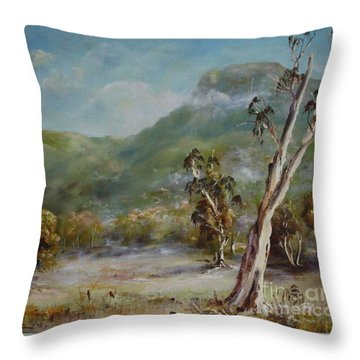Boronia Peak Throw Pillow