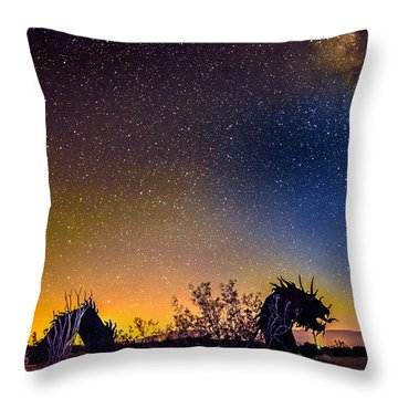 Borrego Springs Dragon Throw Pillow