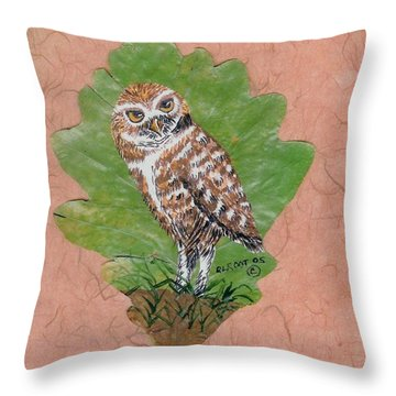 Borrowing Owl Throw Pillow