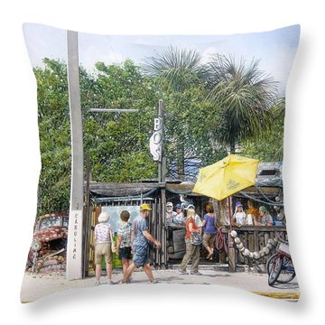 Bos Fish Wagon Throw Pillow by Bob George