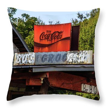 Bo's Grocery Throw Pillow