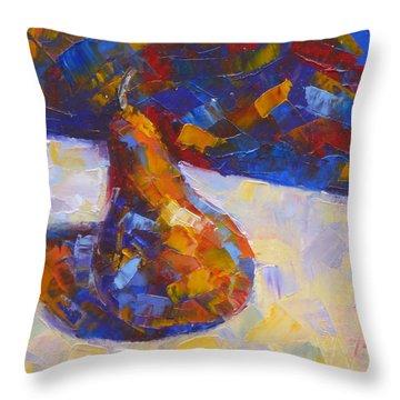 Bosc Pear Mosaic Throw Pillow