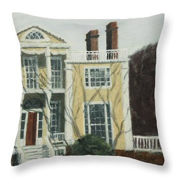 Boscobel In Winter Throw Pillow