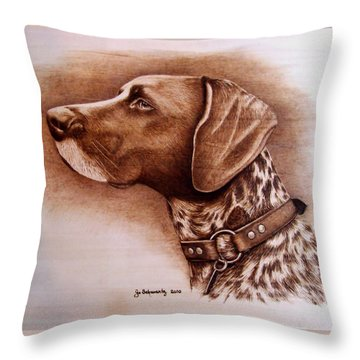 Boscoe Throw Pillow by Jo Schwartz