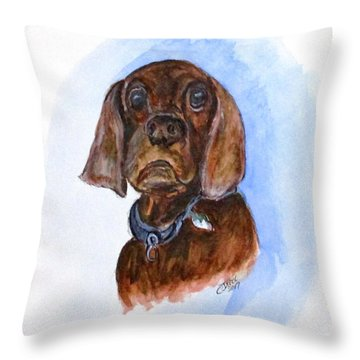 Bosely The Dog Throw Pillow