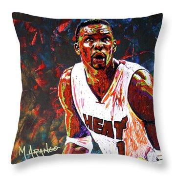 Bosh Throw Pillow by Maria Arango