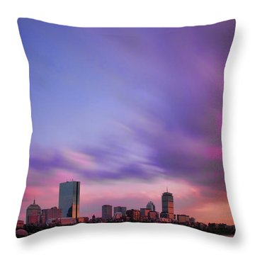 Boston Afterglow Throw Pillow by Rick Berk