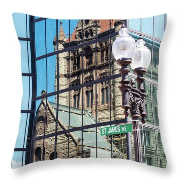 Boston At Different Angle Throw Pillow