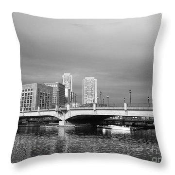 Boston Bridge Throw Pillow