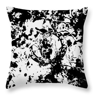 Boston Celtics 1d Throw Pillow by Brian Reaves