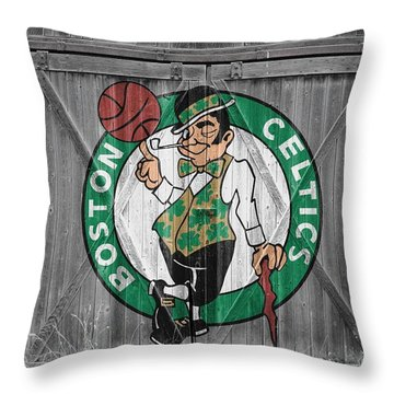 Boston Celtics Barn Doors Throw Pillow