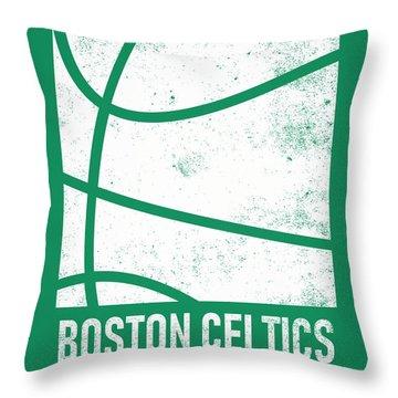 Boston Celtics City Poster Art 2 Throw Pillow