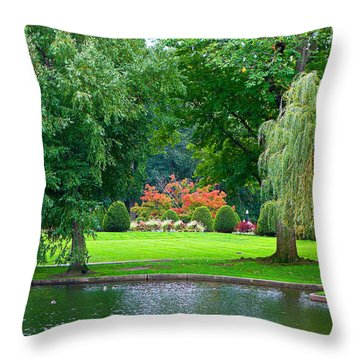 Boston Common Study 3 Throw Pillow