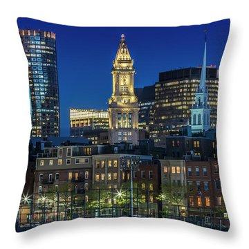Boston North End Throw Pillows