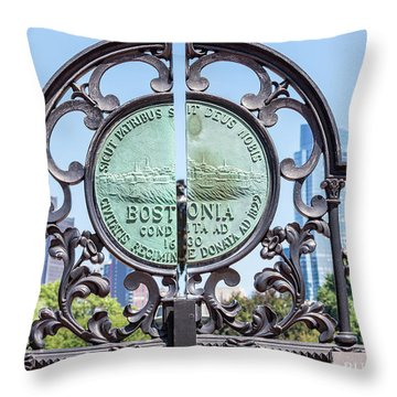 Boston Garden Gate Detail Throw Pillow