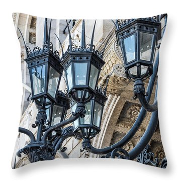 Boston Lamps Throw Pillow