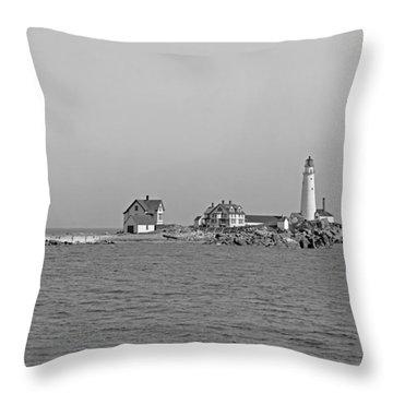 Boston Light 1906 Throw Pillow