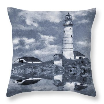Throw Pillow featuring the photograph Boston Light  by Ian Mitchell