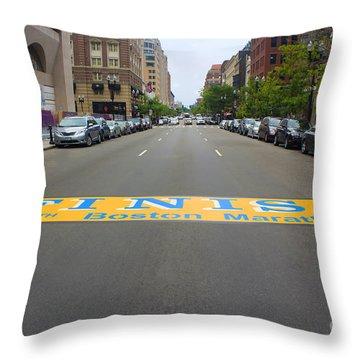 Boston Marathon Finish Line Throw Pillow
