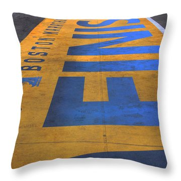 Boston Marathon Finish Line Throw Pillow