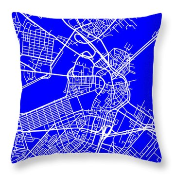 Boston Massachusetts City Map Streets Art Print   Throw Pillow